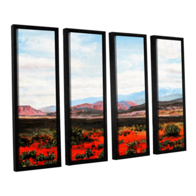 Brushstone Joyride 4-pc. Floater FramedCanvas WallArt