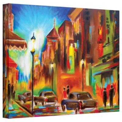 Brushstone Twilight in Treviso GalleryWrapped Canvas Wall Art
