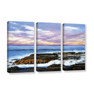 Brushstone Brushstone Rolling Water 3-pc. GalleryWrapped Canvas Wall Art