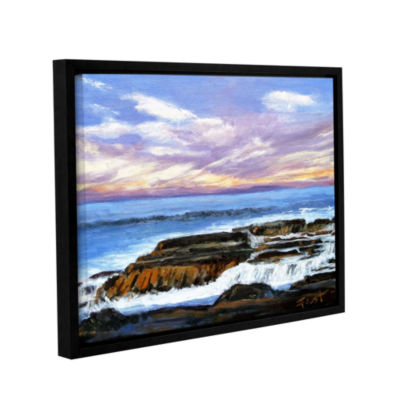 Brushstone Brushstone Rolling Water Gallery Wrapped Floater-Framed Canvas Wall Art