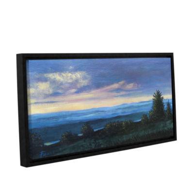 Brushstone Hillside Gallery Wrapped Floater-FramedCanvas Wall Art