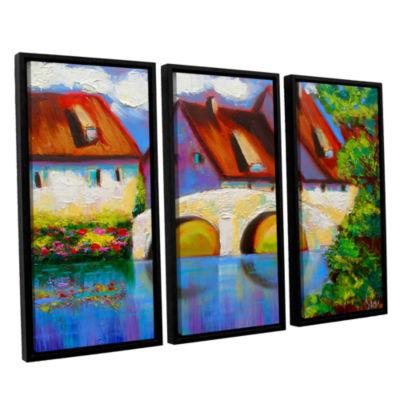 Brushstone Brushstone German Village on Rhine 3-pc. Floater Framed Canvas Wall Art