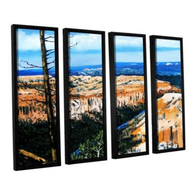 Brushstone Brushstone Mountain Tops Blue Sky 4-pc.Floater Framed Canvas Wall Art