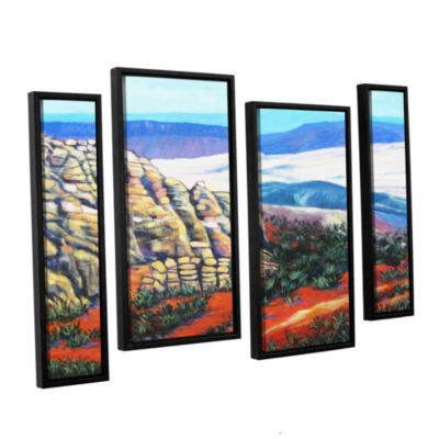 Brushstone Brushstone Rocky Mountain Living 4-pc.Floater Framed Staggered Canvas Wall Art