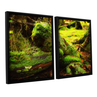 Brushstone Brushstone Into the Greens 2-pc. Floater Framed Canvas Wall Art