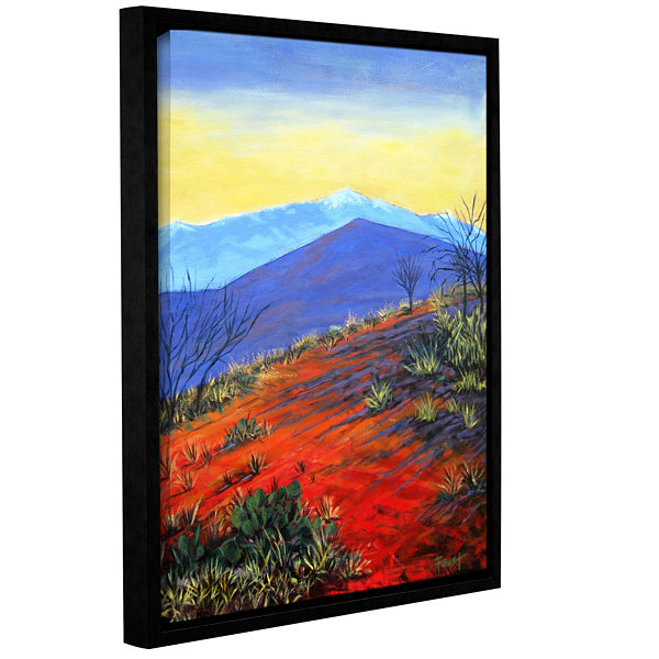 Brushstone Solitaire Gallery Wrapped Framed CanvasWall Art