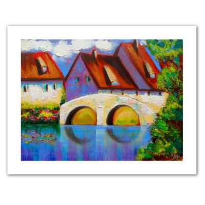 Brushstone German Village on Rhine Canvas Wall Art