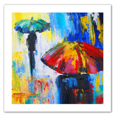 Brushstone Red Umbrella Canvas Wall Art