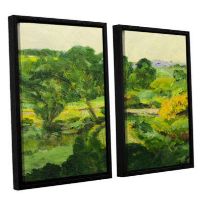 Brushstone Coton In The Elms 2-pc. Floater FramedCanvas Wall Art