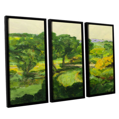 Brushstone Coton In The Elms 3-pc. Floater Framed Canvas Wall Art