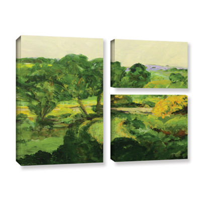Brushstone Brushstone Coton In The Elms 3-pc. FlagGallery Wrapped Canvas Wall Art