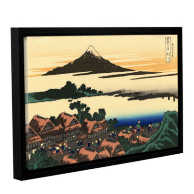 Brushstone Dawn At Isawa In The Kai Province Gallery Wrapped Floater-Framed Canvas Wall Art