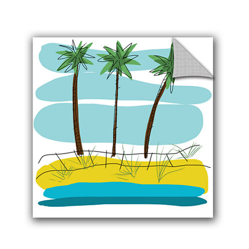 Brushstone Day Palms II Removable Wall Decal