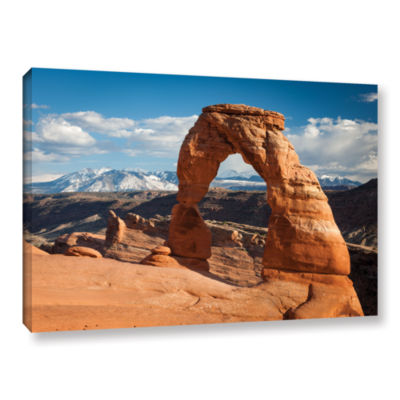 Brushstone Brushstone Delicate Arch Daytime Horizontal Gallery Wrapped Canvas Wall Art