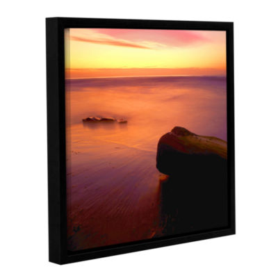 Brushstone Deep Twilight Gallery Wrapped Floater-Framed Canvas Wall Art