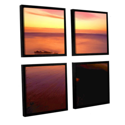 Brushstone Deep Twilight 4-pc. Square Floater Framed Canvas Wall Art