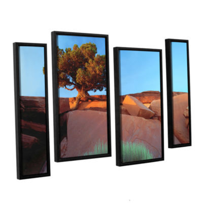 Brushstone Dead Horse Point 4-pc. Floater Framed Staggered Canvas Wall Art