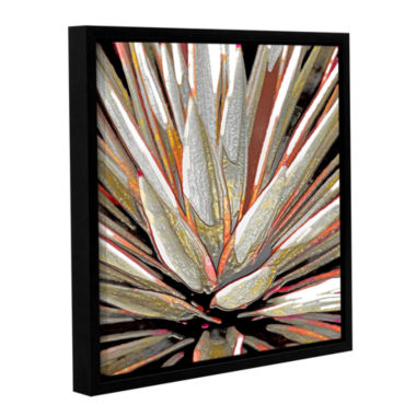 Brushstone Desert Agave Gallery Wrapped Floater-Framed Canvas Wall Art