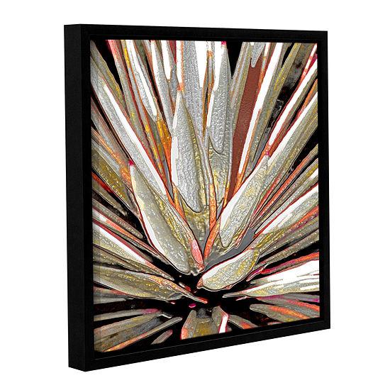 Brushstone Desert Agave Gallery Wrapped Floater-Framed Canvas Wall Art