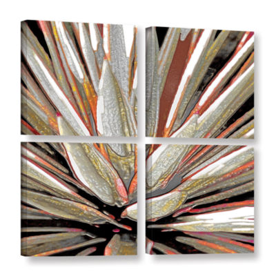 Brushstone Desert Agave 4-pc. Square Gallery Wrapped Canvas Wall Art