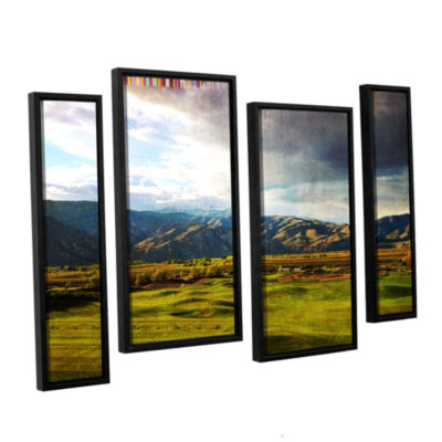 Brushstone Day At The Range 4-pc. Floater Framed Staggered Canvas Wall Art