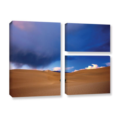 Brushstone Brushstone Death Valley Winter 3-pc. Flag Gallery Wrapped Canvas Wall Art