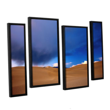 Brushstone Death Valley Winter 4-pc. Floater Framed Staggered Canvas Wall Art