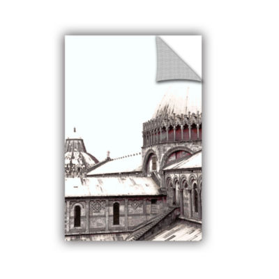 Brushstone Daybreak On The Duomo Pisa Removable Wall Decal