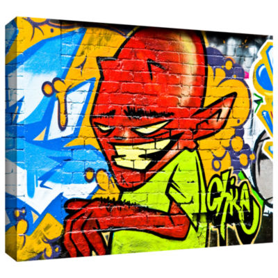 Brushstone Demon 3 Gallery Wrapped Canvas Wall Art