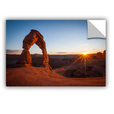Brushstone Delicate Arch With Sunburst Removable Wall Decal