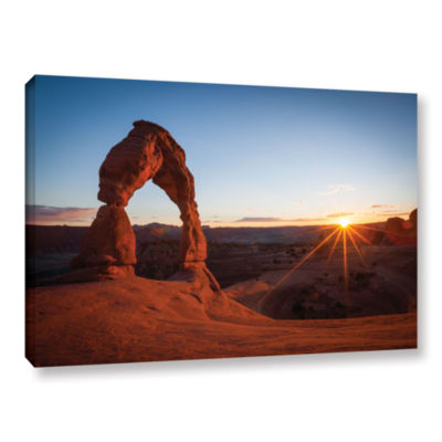 Brushstone Brushstone Delicate Arch With SunburstGallery Wrapped Canvas Wall Art