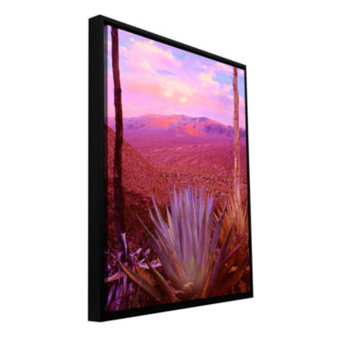Brushstone Desert Cycle Gallery Wrapped Floater-Framed Canvas Wall Art