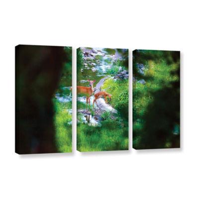 Brushstone Brushstone Deer 3-pc. Gallery Wrapped Canvas Wall Art