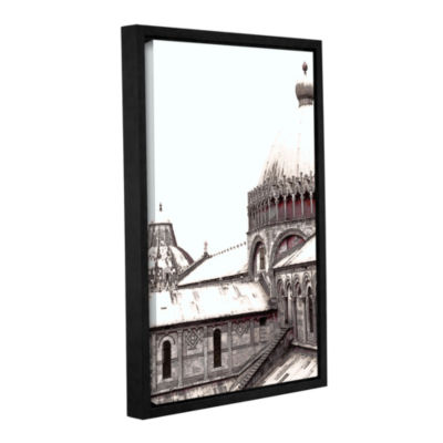 Brushstone Daybreak On The Duomo Pisa Gallery Wrapped Floater-Framed Canvas Wall Art