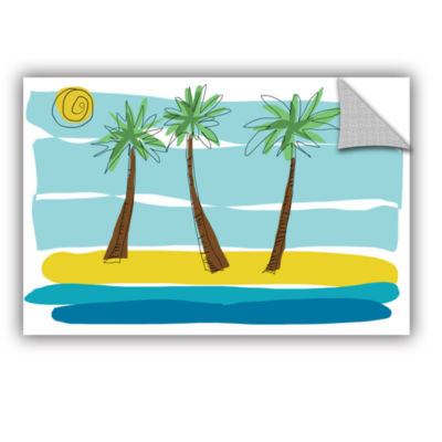 Brushstone Day Palms I Removable Wall Decal