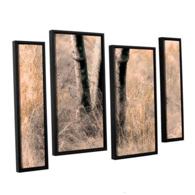 Brushstone Desert Grasses II 4-pc. Floater FramedStaggered Canvas Wall Art