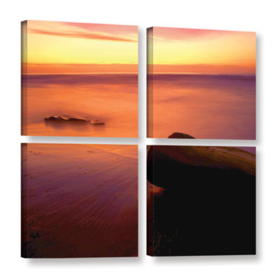 Brushstone Brushstone Deep Twilight 4-pc. Square Gallery Wrapped Canvas Wall Art