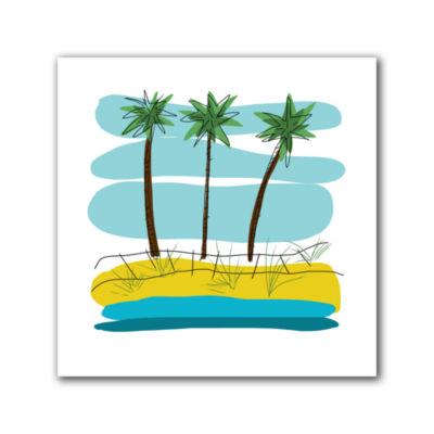 Brushstone Day Palms II Canvas Wall Art