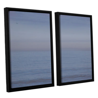 Brushstone Dead Calm 2-pc. Floater Framed Canvas Wall Art