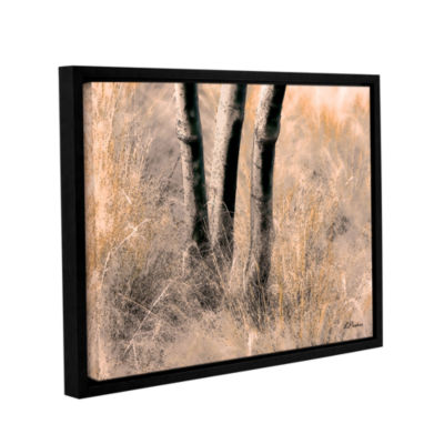 Brushstone Desert Grasses II Gallery Wrapped Floater-Framed Canvas Wall Art