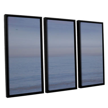 Brushstone Dead Calm 3-pc. Floater Framed Canvas Wall Art