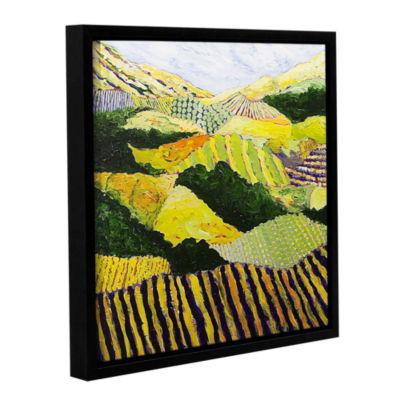 Brushstone Delta Fields Gallery Wrapped Floater-Framed Canvas Wall Art