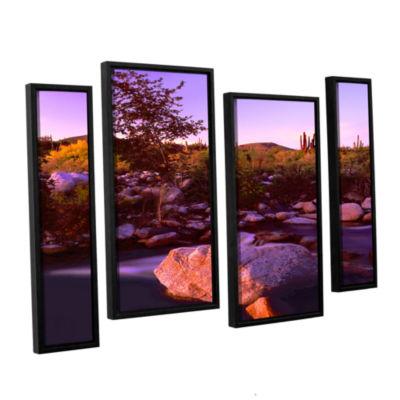 Brushstone Deer Creek Evening 4-pc. Floater FramedStaggered Canvas Wall Art