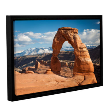 Brushstone Delicate Arch Daytime Horizontal Gallery Wrapped Floater-Framed Canvas Wall Art