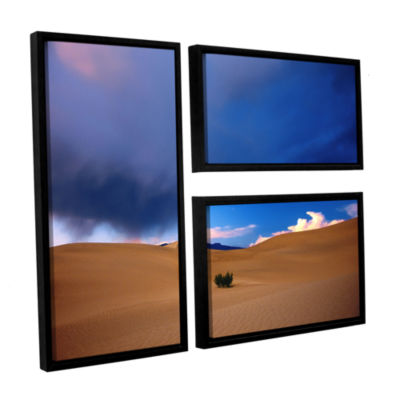 Brushstone Death Valley Winter 3-pc. Flag FloaterFramed Canvas Wall Art