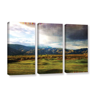 Brushstone Brushstone Day At The Range 3-pc. Gallery Wrapped Canvas Wall Art