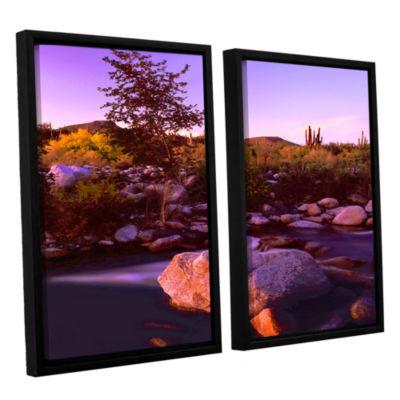 Brushstone Deer Creek Evening 2-pc. Floater FramedCanvas Wall Art