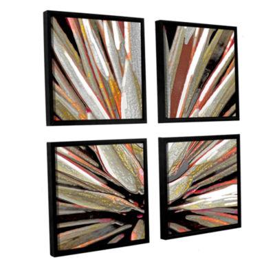 Brushstone Desert Agave 4-pc. Square Floater Framed Canvas Wall Art