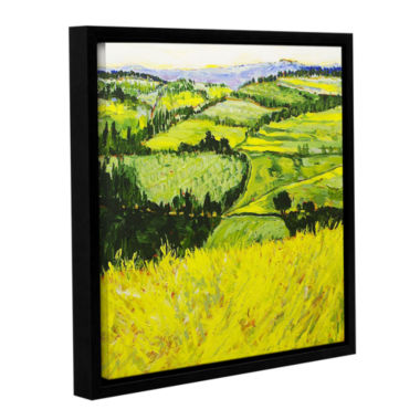 Brushstone Deep Valley Gallery Wrapped Floater-Framed Canvas Wall Art