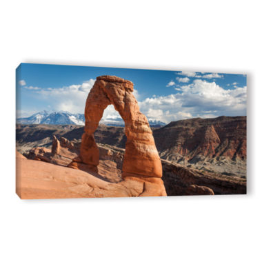 Brushstone Delicate Arch Daytime Panoramic GalleryWrapped Canvas Wall Art